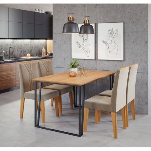 mesa-c-4-cadeiras-lisa-138x80-preto-nature-cimol-0